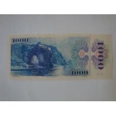 Bankovka 1000 Kčs 1985