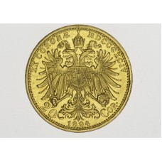 Zlatá mince 20 koruna 1894