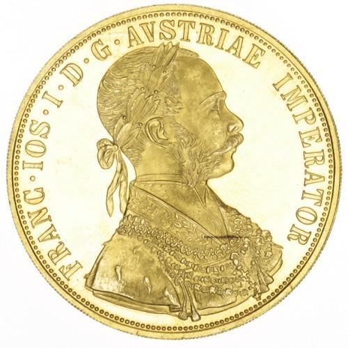 Zlatá mince 4 dukát FJI
