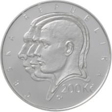 Stříbrná pamětní mince 200 Kč Hrdlička
