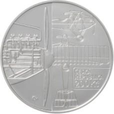 Stříbrná pamětní mince 200 Kč letoun Bohemia