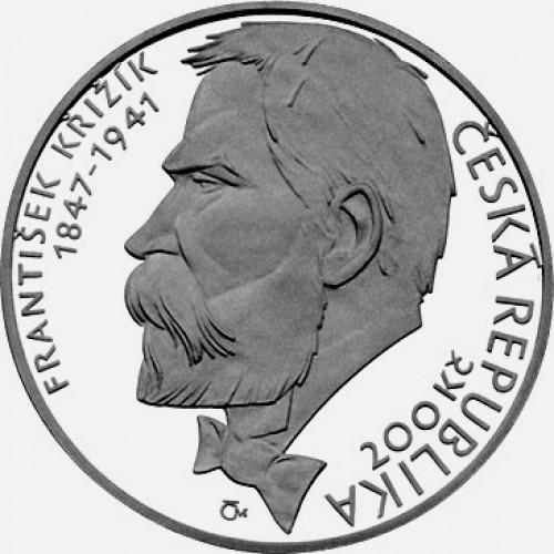 Pamětní stříbrná mince 200 Kč 2003 Křižík