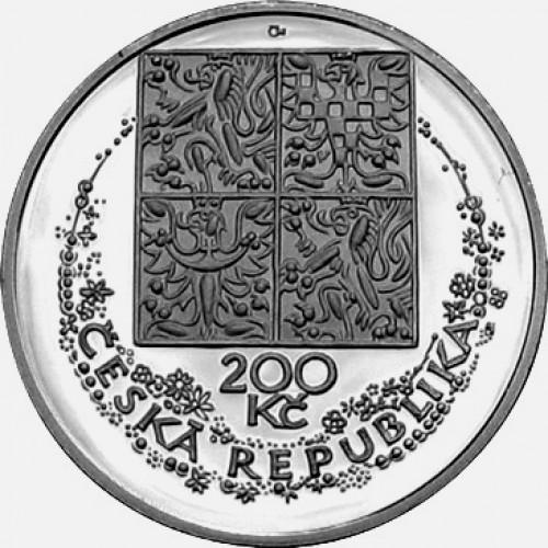 Stříbrná pamětní mince 200 Kč Svolinský