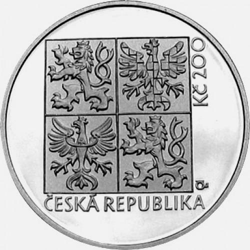 Pamětní stříbrná mince 200 Kč auto President
