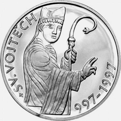Pamětní stříbrná mince 200 Kč sv. Vojtěch