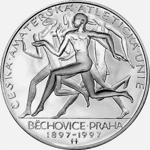 Pamětní stříbrná mince 200 Kč atletická unie