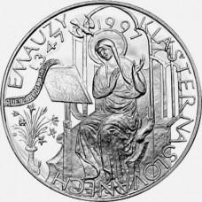 Pamětní stříbrná mince 200 Kč klášter Emauzy