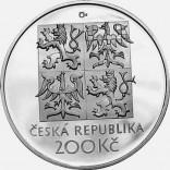 Stříbrná pamětní mince 200 Kč Nezval