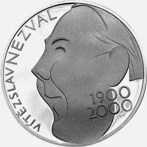 Pamětní stříbrná mince 200 Kč Nezval