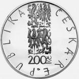 Pamětní stříbrná mince 200 Kč 2001 Škroup