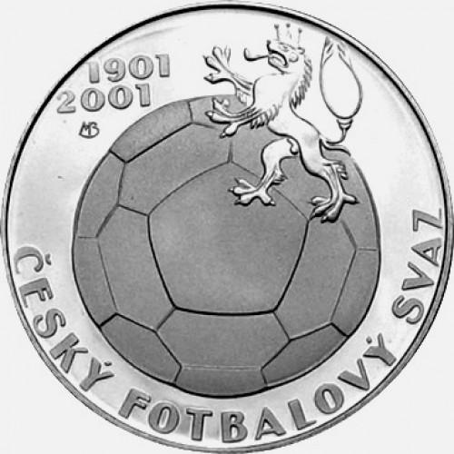 Pamětní stříbrná mince 200 Kč 2001 kopaná