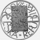 Stříbrná pamětní mince 200 Kč evropská měna