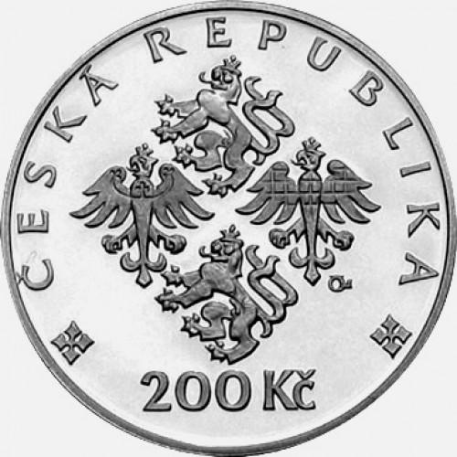Pamětní stříbrná mince 200 Kč 2002 Zdislava