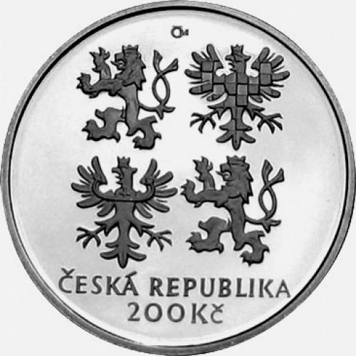 Pamětní stříbrná mince 200 Kč 2002 Holub