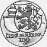 Stříbrná pamětní mince 200 Kč Jiří z Poděbrad