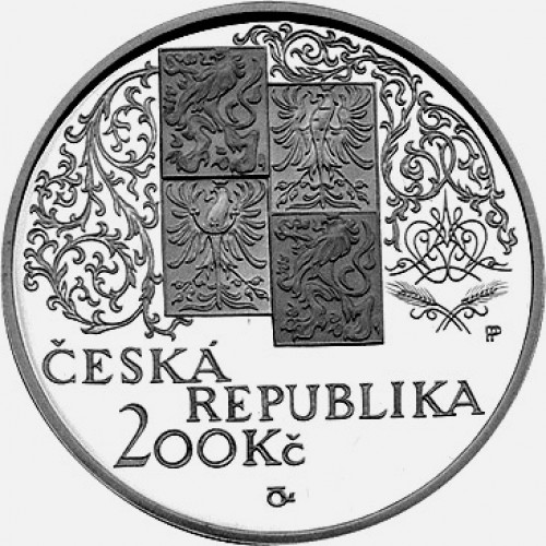 Pamětní stříbrná mince 200 Kč 2002 Mikoláš Aleš