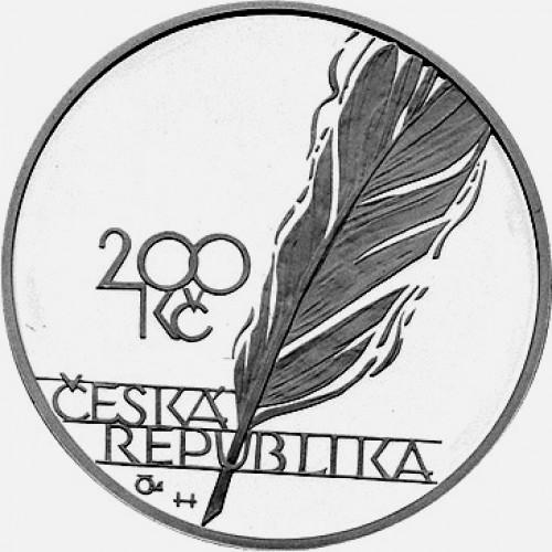 Pamětní stříbrná mince 200 Kč 2003 Vrchlický