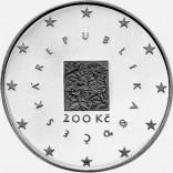 Stříbrná pamětní mince 200 Kč EU