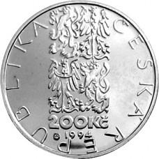 Stříbrná pamětní mince 200 Kč koněspřežná tramvaj