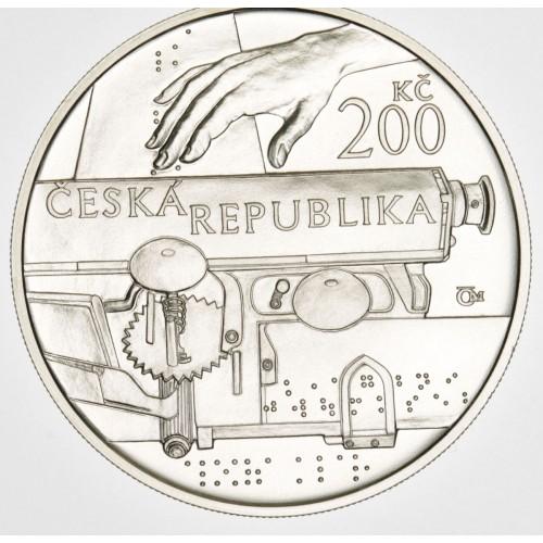 Stříbrná pamětní mince 200 Kč Klar