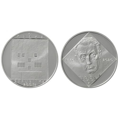 Pamětní stříbrná mince 200 Kč Adolf Loos