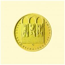 Zlatá mince 5000 Kč hrad Bouzov